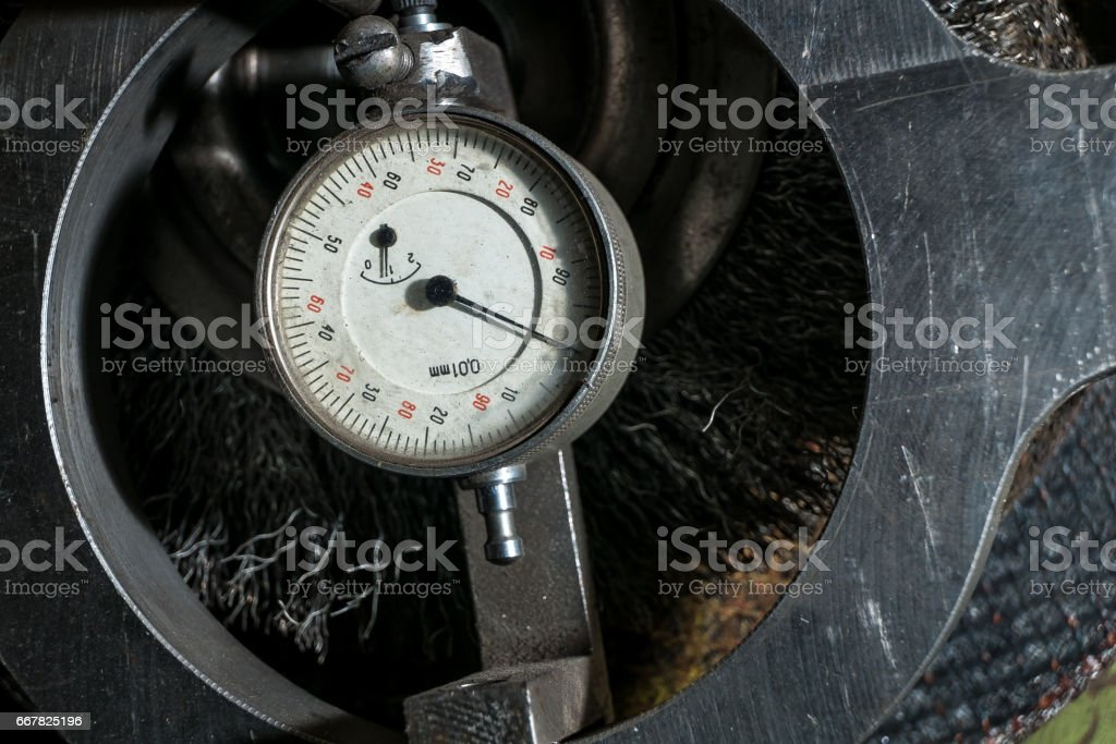 bars pressure sensor on the machine stock photo