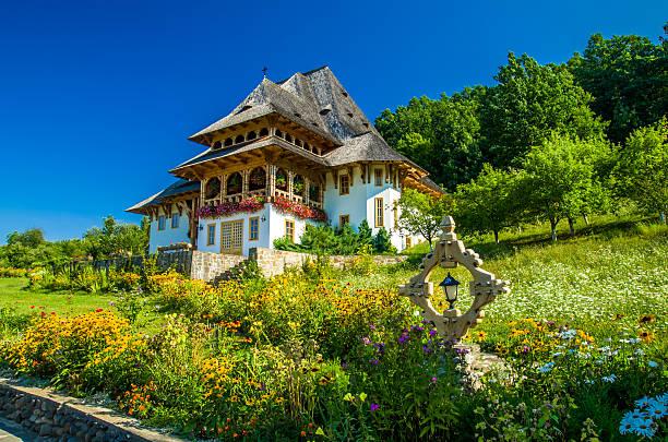 Barsana hölzernen-Kloster, Maramures, Rumänien. – Foto