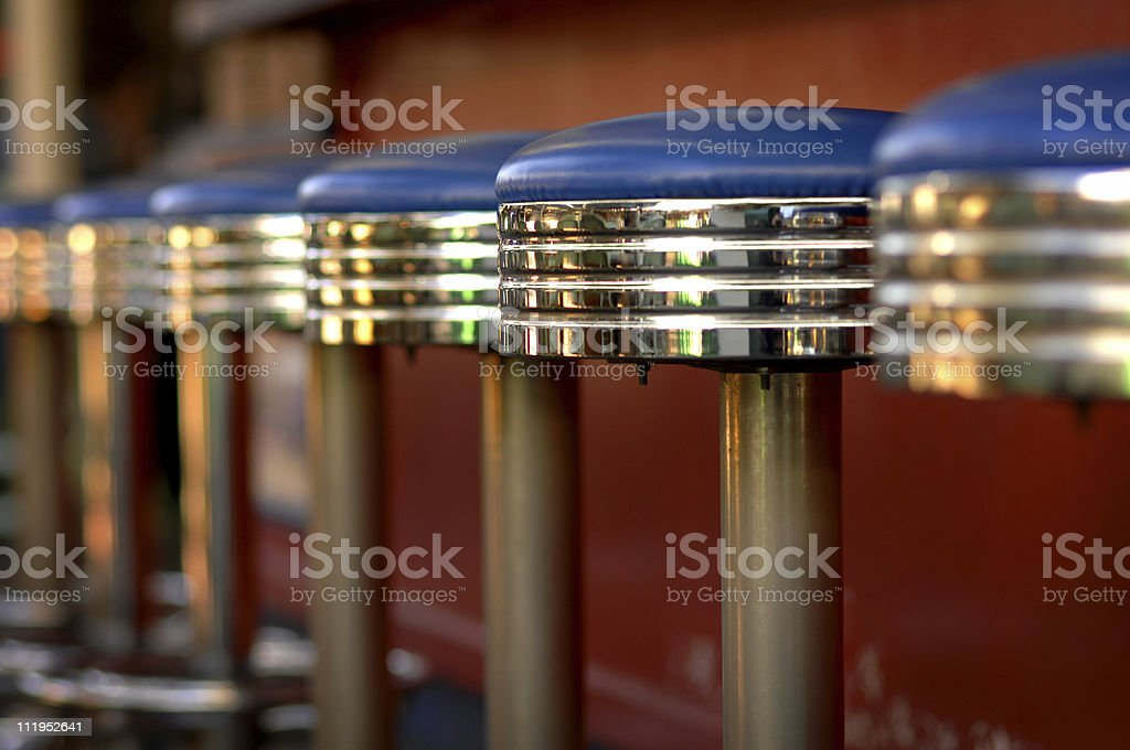Barstools stock photo