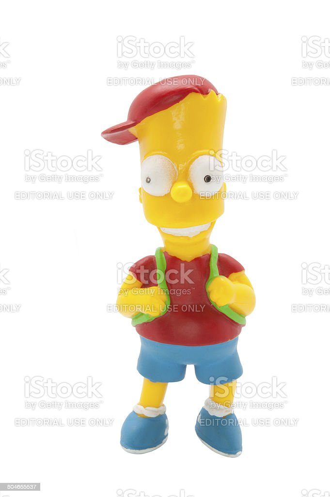 Bart Simpson Figurine stock photo