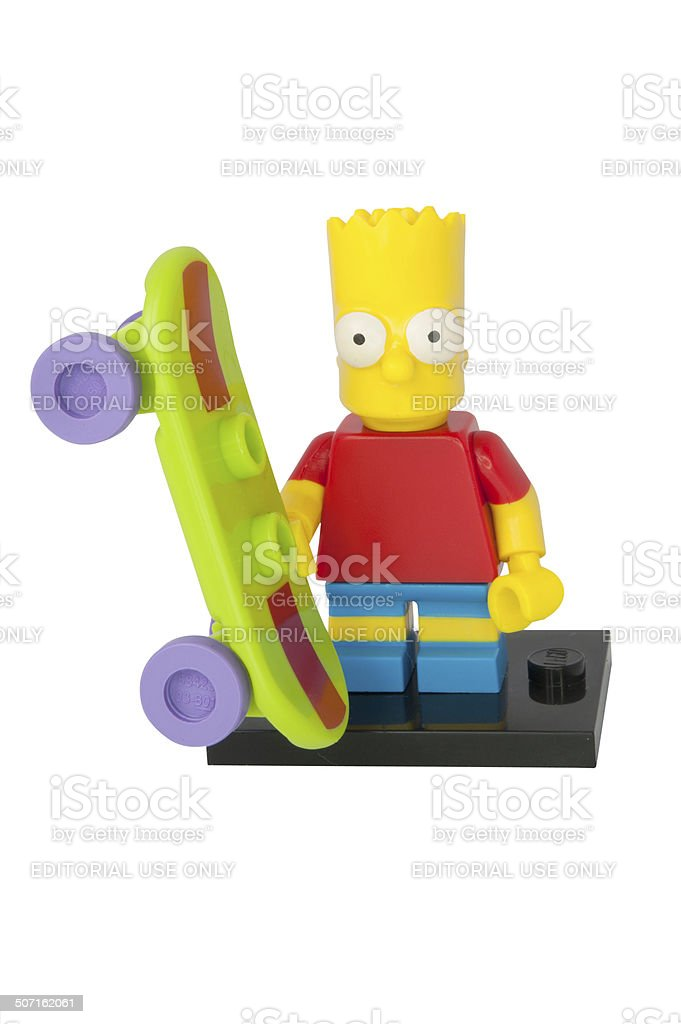 Bart Simpson Lego Minifigure stock photo