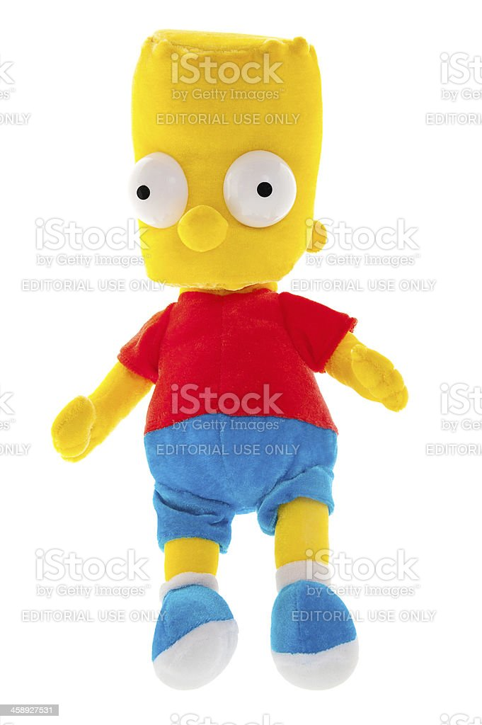 Bart Simpson Soft Toy stock photo