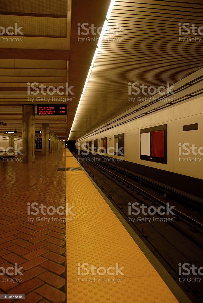 Bart Station at Midnight stock photo