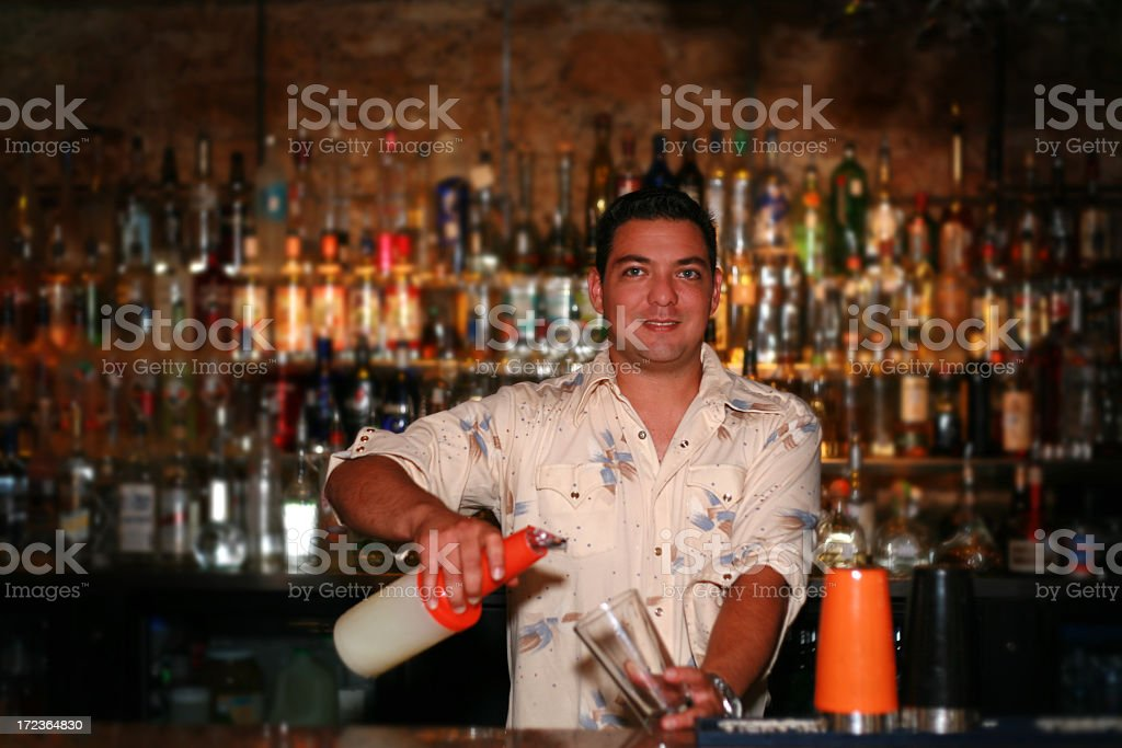 Bartender royalty-free stock photo