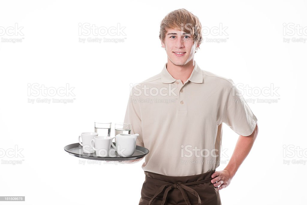Bartender with softdrinks royalty-free stock photo