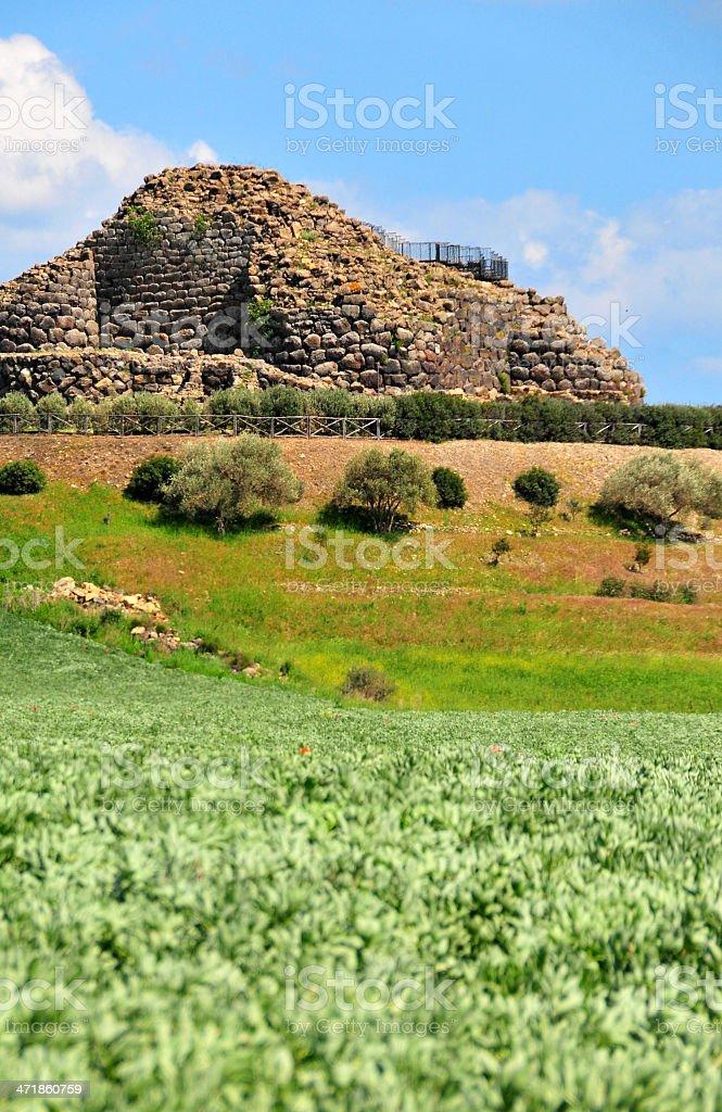 Barumini, Medio Campidano, Sardinia, Italy: Su Nuraxi nuraghic complex stock photo