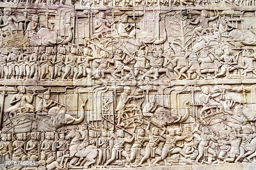 1147569123 istock photo Bas relief depicting a battle 1078746584