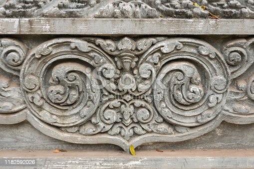 1147569123 istock photo Bas Relief mural of Khmer culture in Angkor Wat temple wall , Cambodia, close up 1182592026