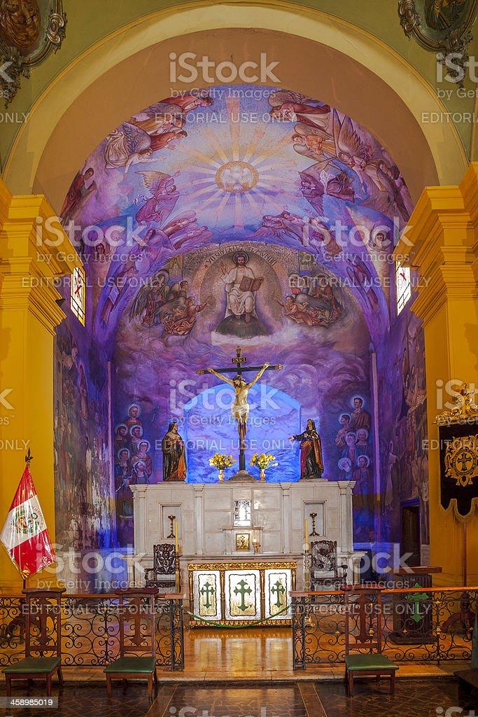 Basílica de la Veracruz Interior, Lima stock photo