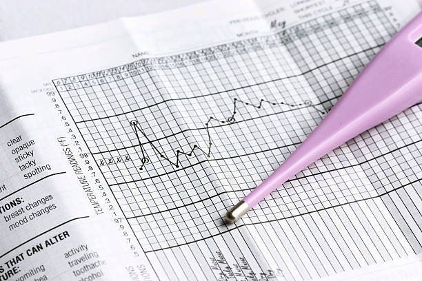 basal thermometer stock photo
