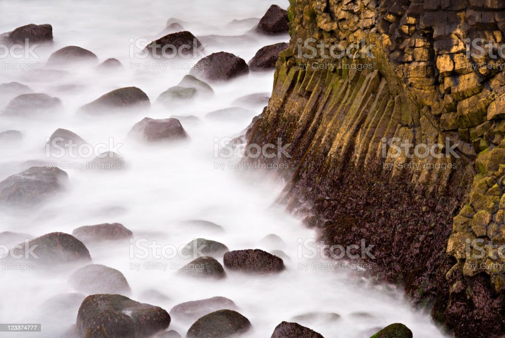 Basalt By The Sea stock photo