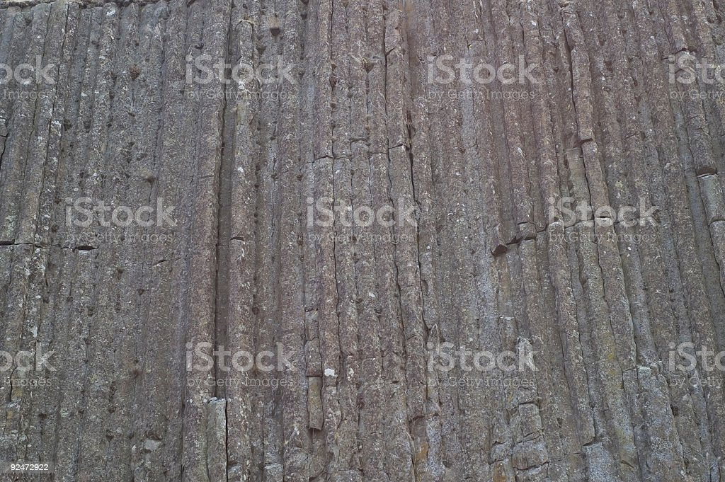 Basalt column cliff royalty-free stock photo
