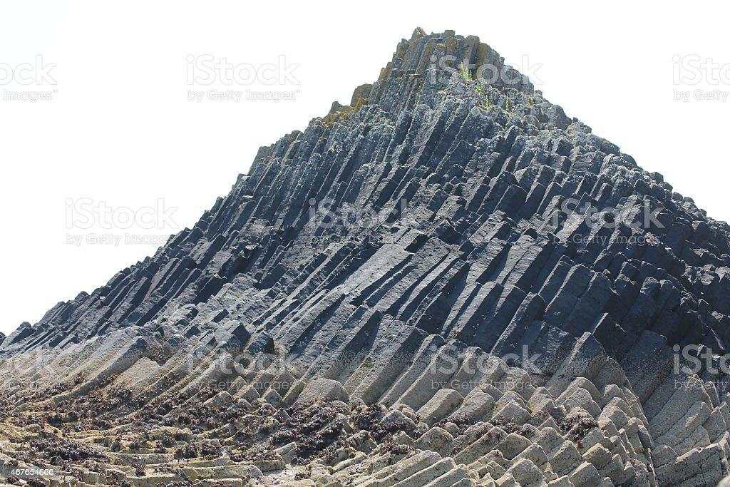 Formation basaltique island près de Fingal's Rock - Photo