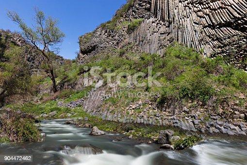 istock Basalt columns and Azat River, in Garni, Armenia. 904472462