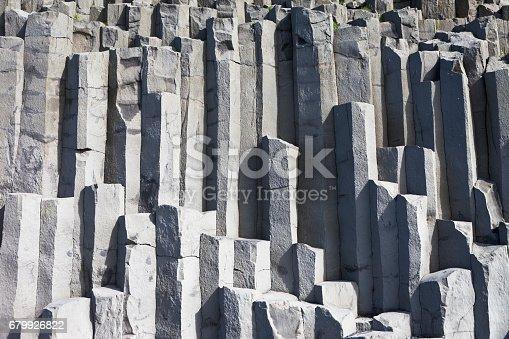 Basalt columns in Reynisfjall, Vik, south of Iceland