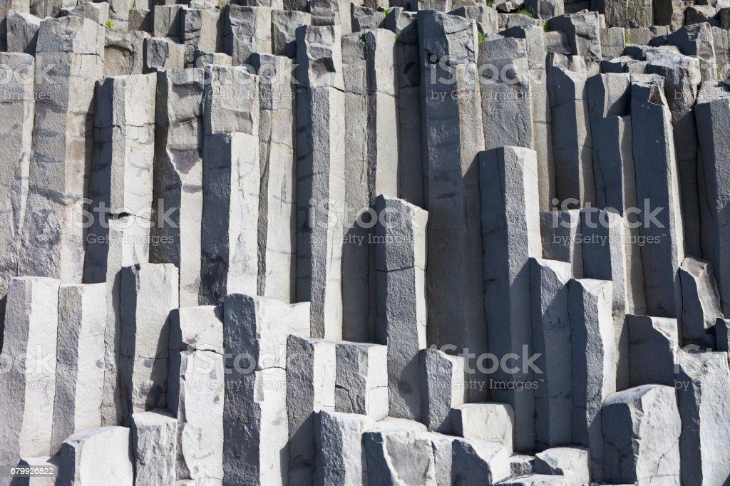 Colonnes de basalte dans Reynisfjall - Photo