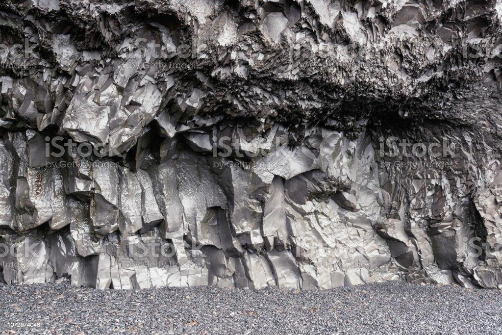Basaltsäulen am Black Sand Beach, Vik, Island – Foto