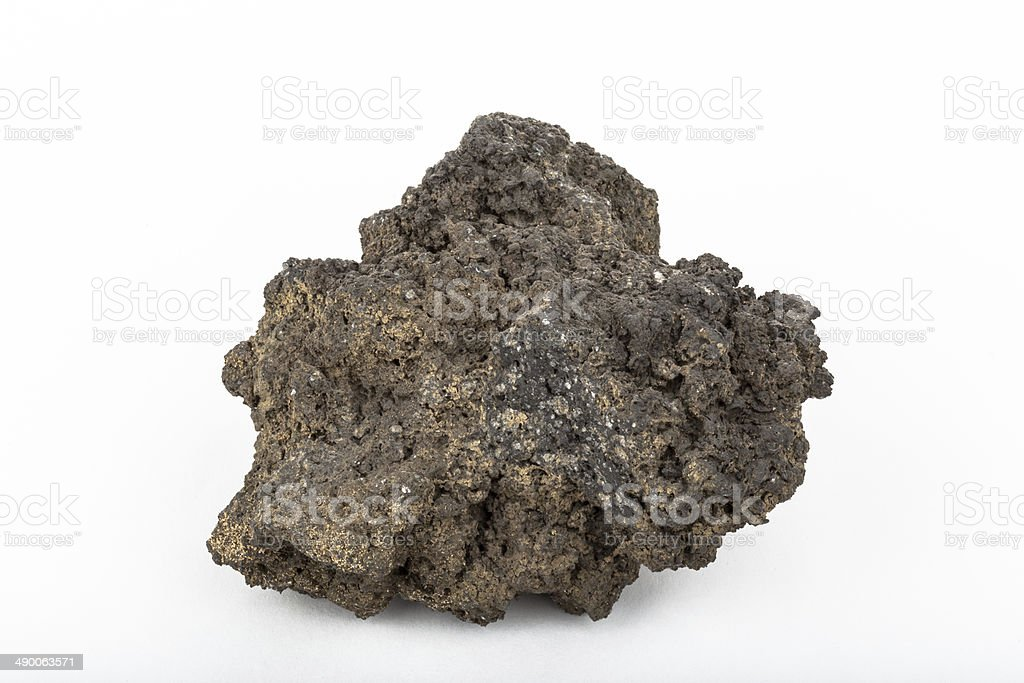 Basalt lava rock from volcano in Iceland stock photo