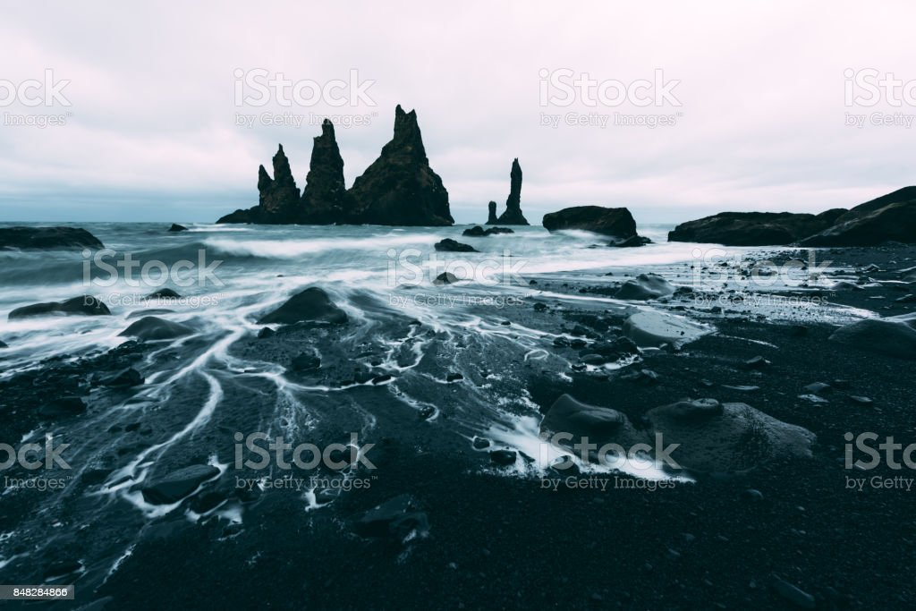 Basalt rock formations 'Troll toes' stock photo