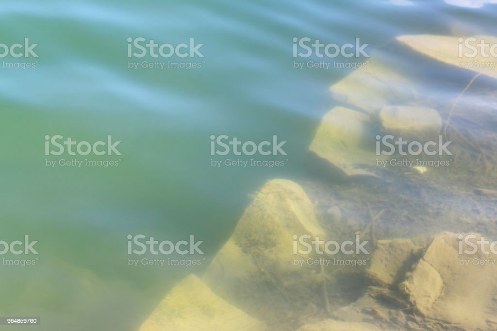 basalt rock under water royalty-free stock photo