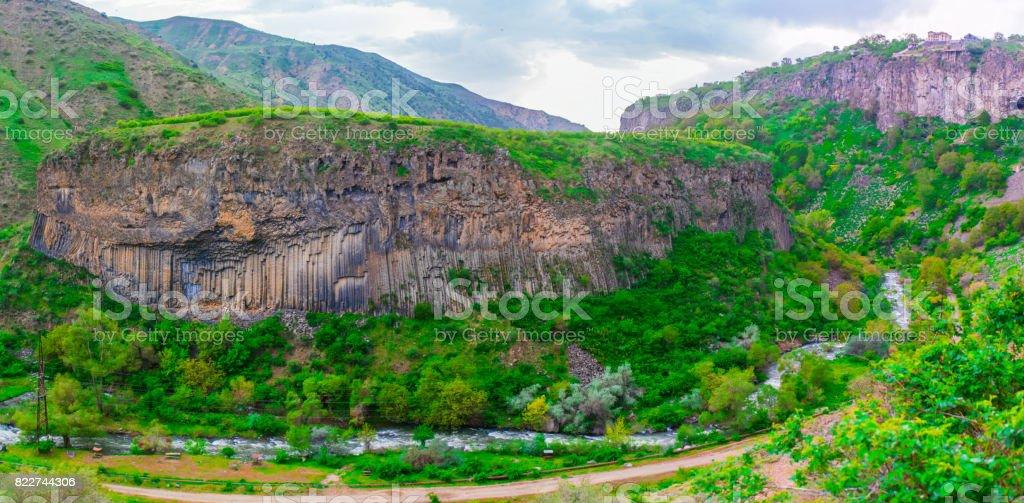 Basaltic caves, Garni, Armenia stock photo