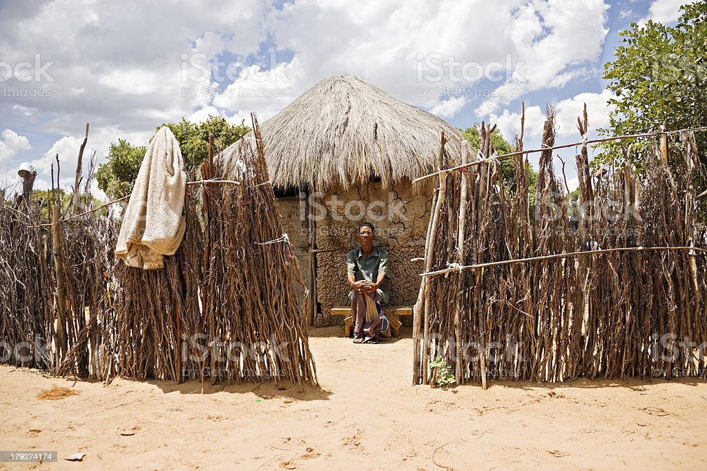 basarwa man stock photo