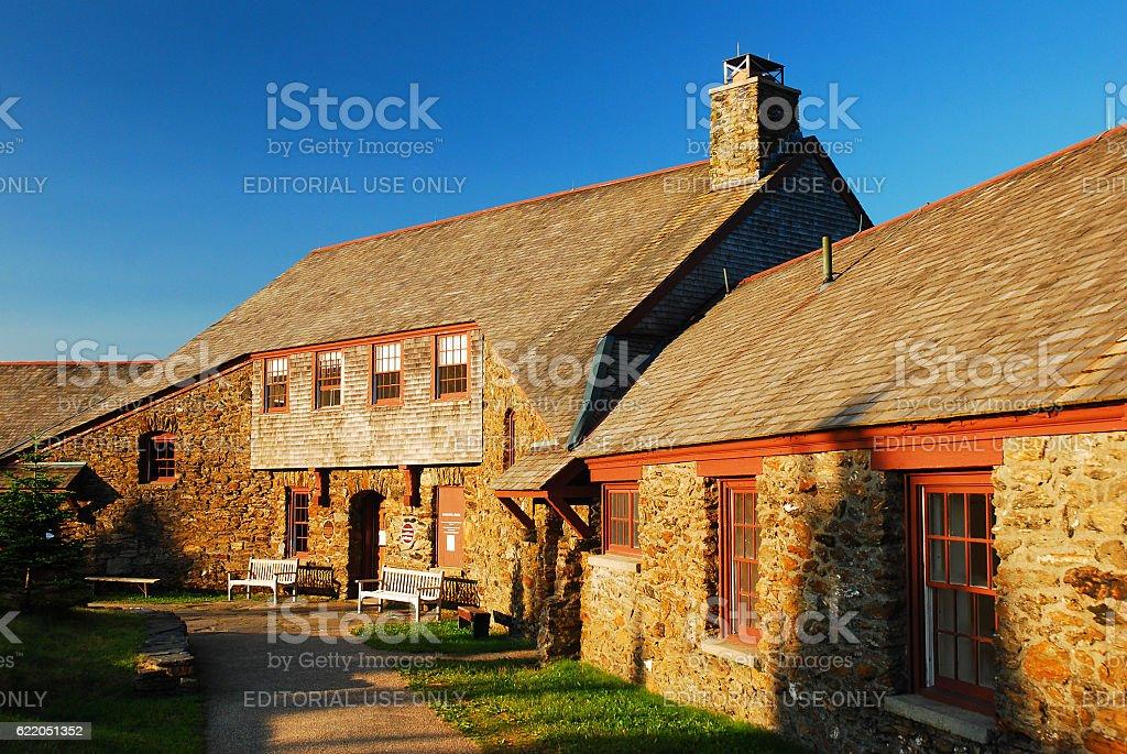 Bascom Lodge, Mt Greylock stock photo