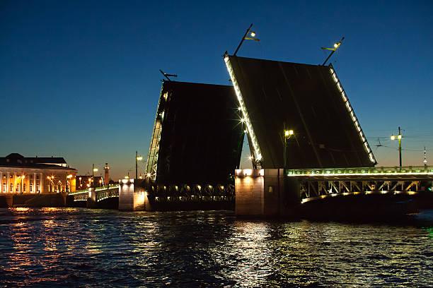 Bascule bridge in St.Petersburg Bascule bridge in St.Petersburg bascule bridge stock pictures, royalty-free photos & images
