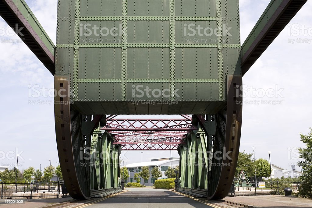 Bascule bridge stock photo