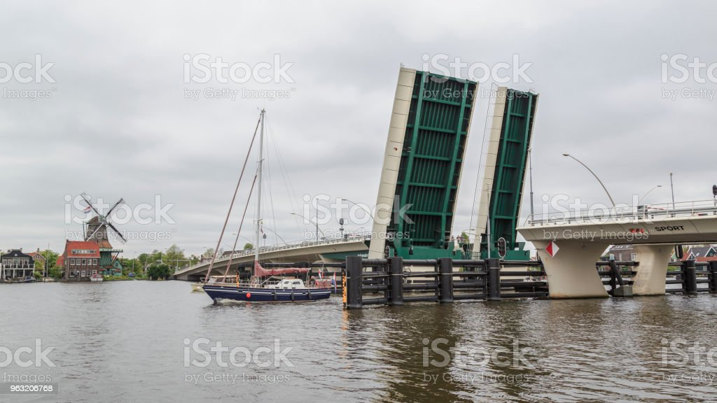Bascule bridge. stock photo