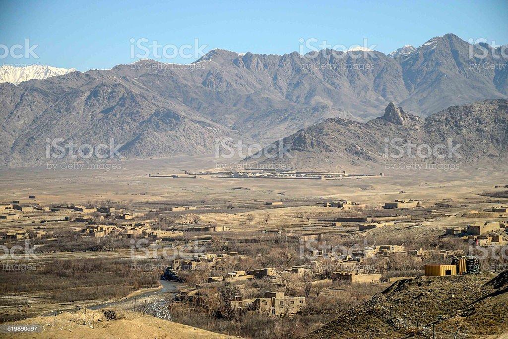 base avancé, Otan, Afghanistan, paysage, habitation stock photo