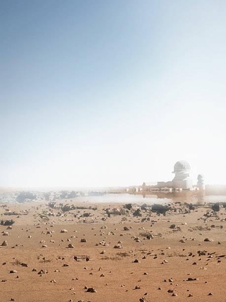 Base Camp Mars Mission stock photo