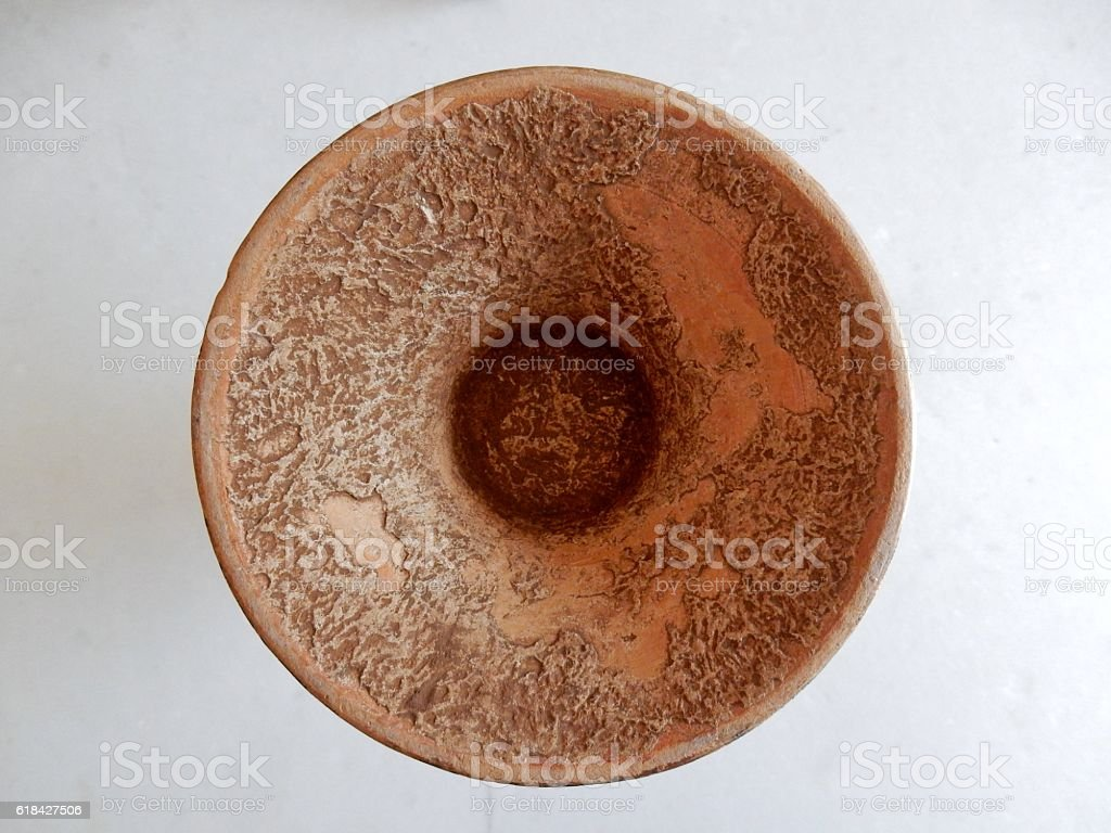 Base di un vaso antico stock photo