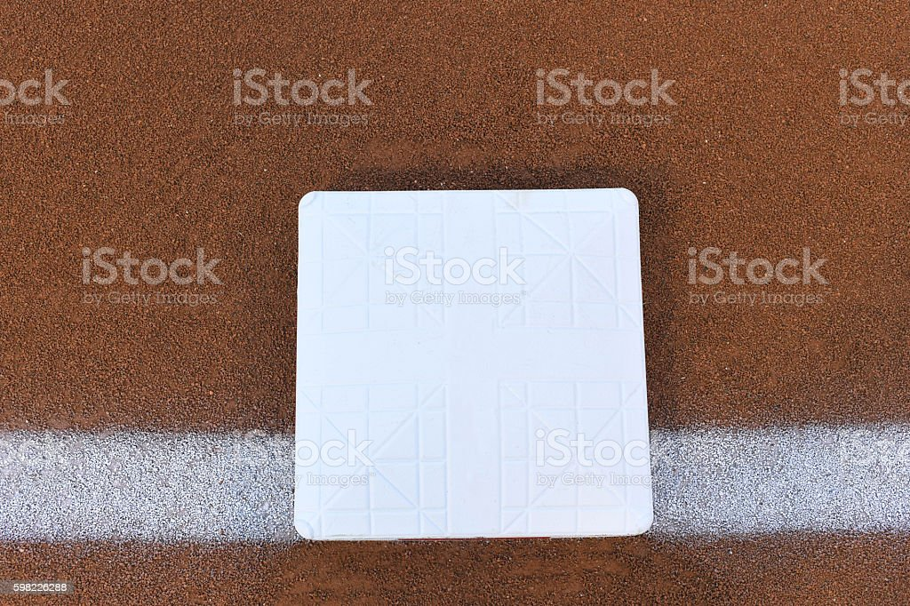 base in a baseball stock photo