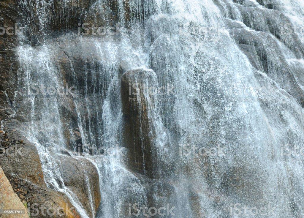 Basis van Gibon Falls - Royalty-free Buitenopname Stockfoto