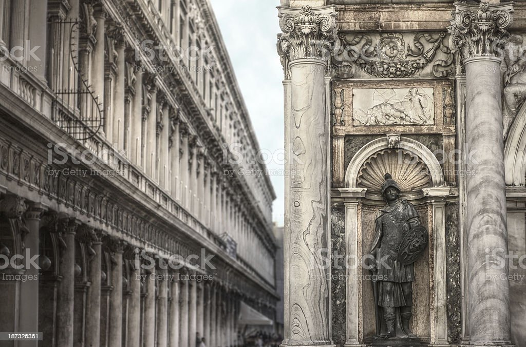 Base del campanile di San Marco, Venezia royalty-free stock photo