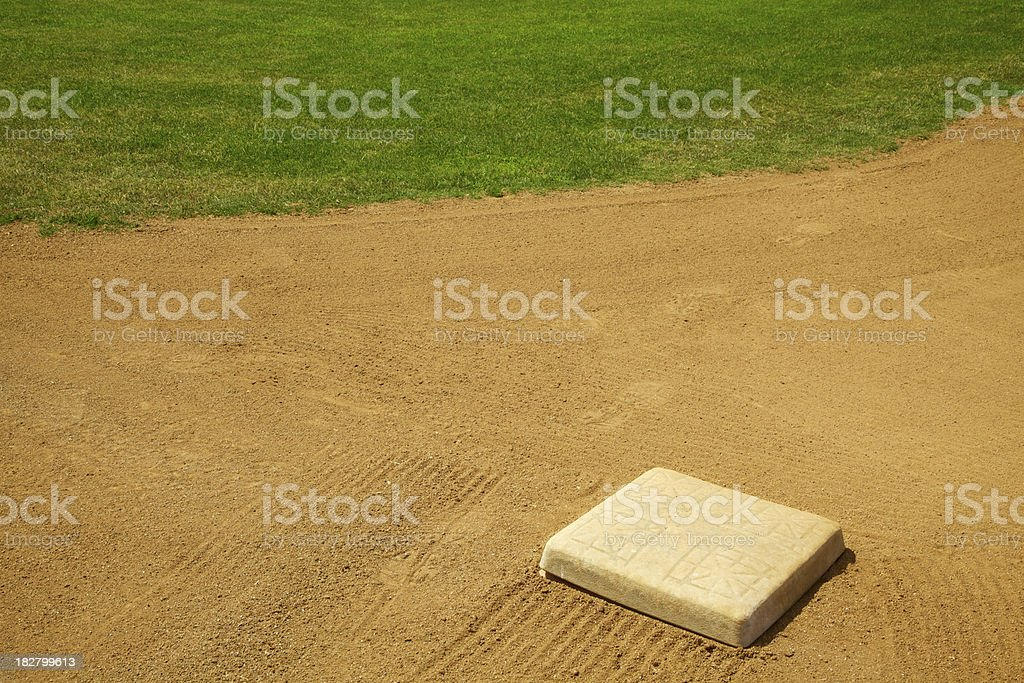 Base on a Baseball Diamond, Team Sport, Outdoors royalty-free stock photo