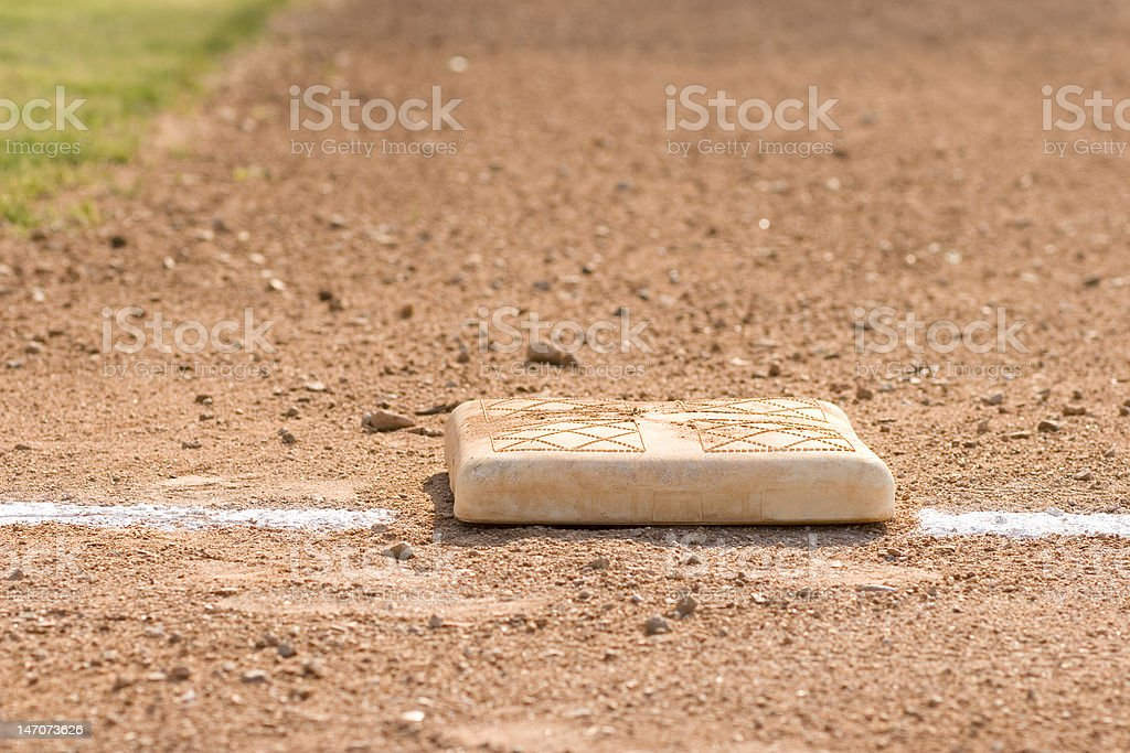 Base on Baseball Diamond royalty-free stock photo