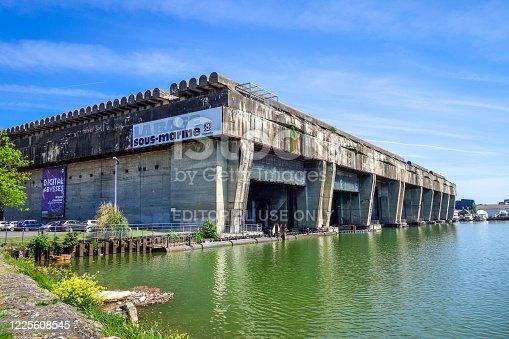 Bordeaux/France - April 18, 2018 : Base sous-marine Betasom - Submarine base.