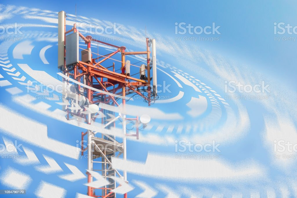 base station network operator. 5G. 4G, 3G mobile technologies. stock photo