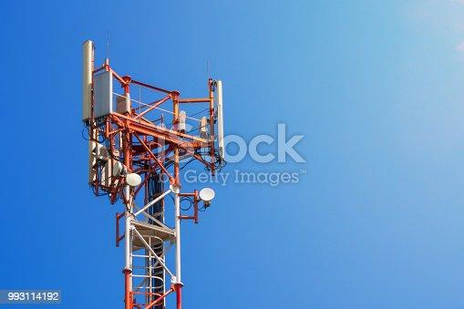 istock base station network operator. 5G. 4G, 3G mobile technologies. 993114192