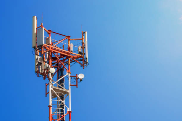 base station network operator. 5g. 4g, 3g mobile technologies. - 4g foto e immagini stock