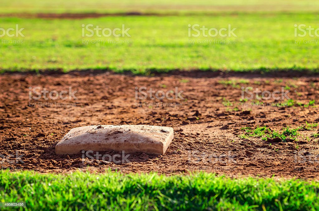 Basebal base stock photo