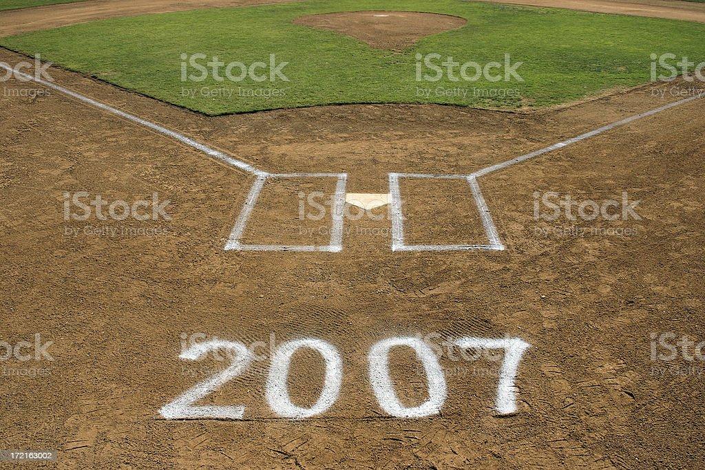 Baseball 2007 royalty-free stock photo
