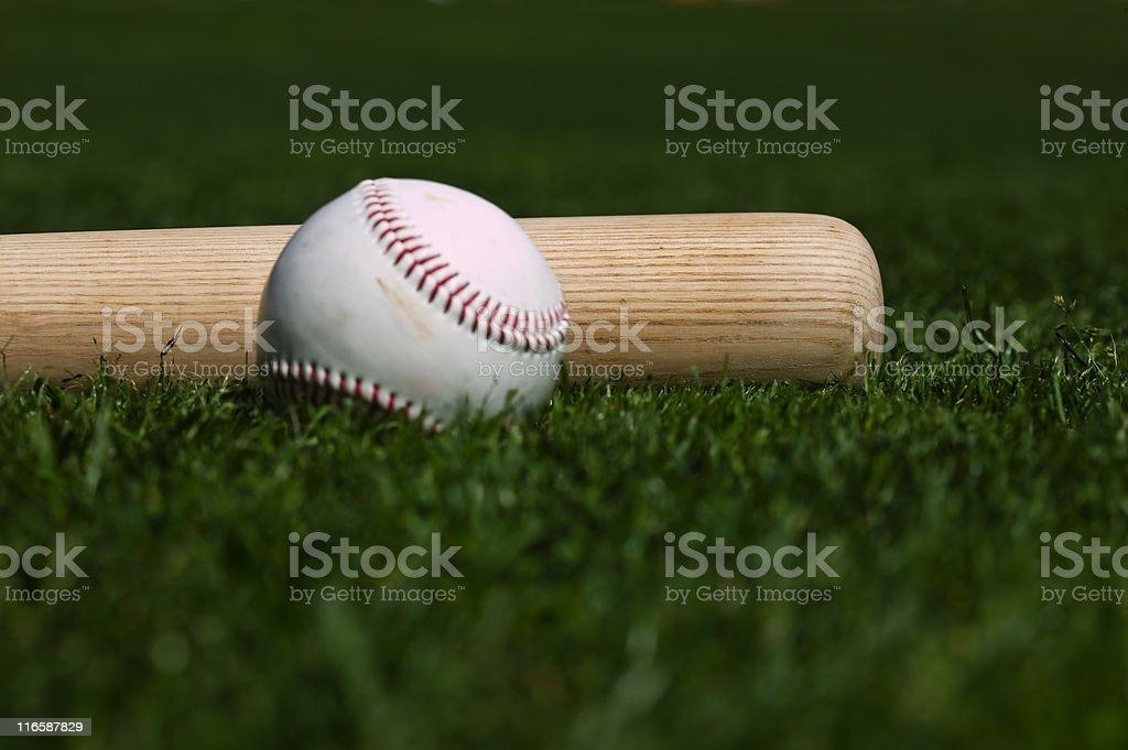 Baseball and Bat royalty-free stock photo