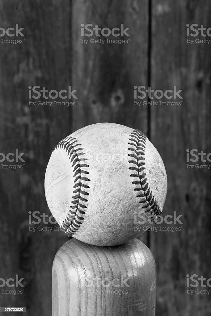 Baseball and Bat. stock photo