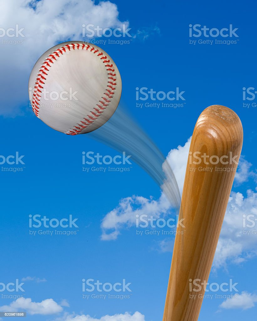 Baseball and Bat. stock photo