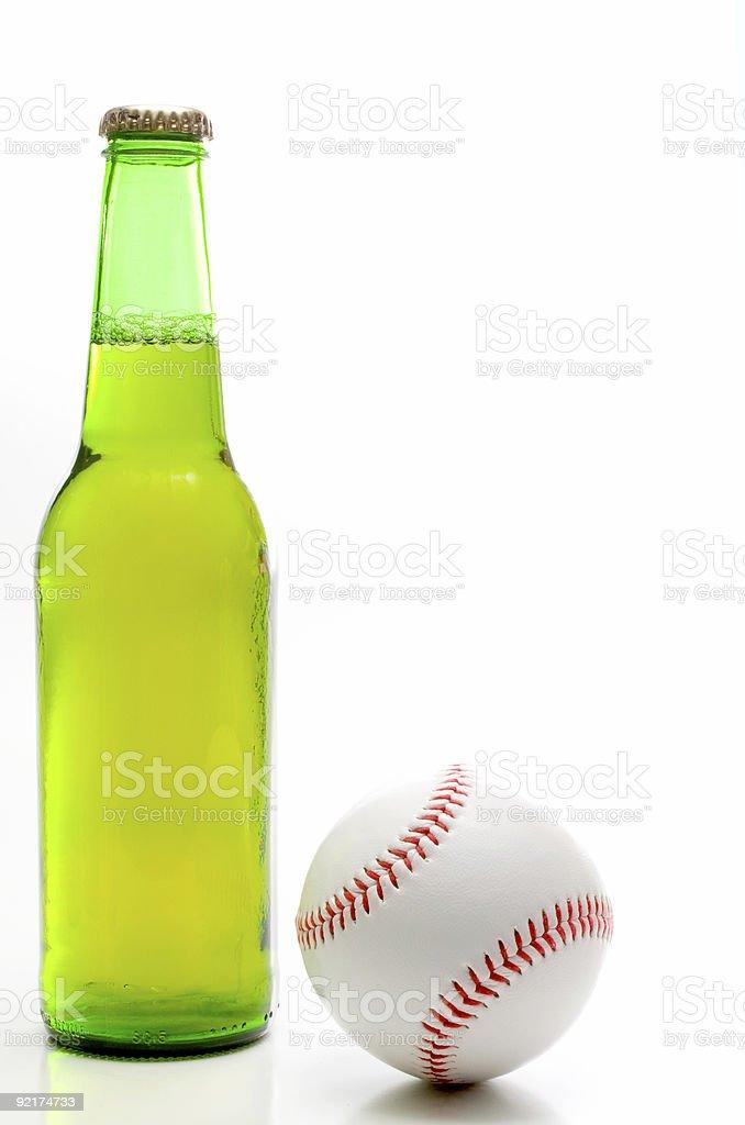 Baseball and Beer stock photo