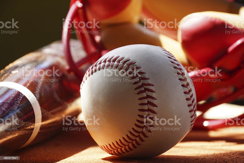 Baseball and Catchers Mask 3 stock photo