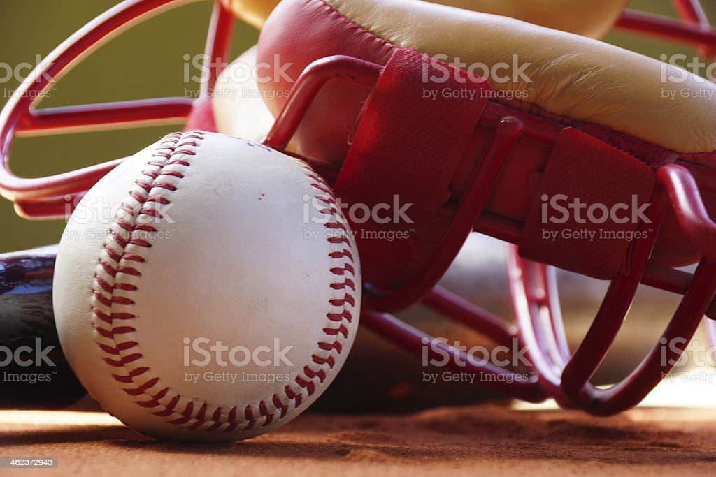 Baseball and Cathers Mask 2 stock photo